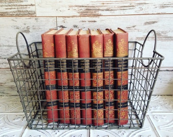 Pink Books Instant Library Collection by Color Photography Props Vintage Decorative Books Shabby Chic Pastel