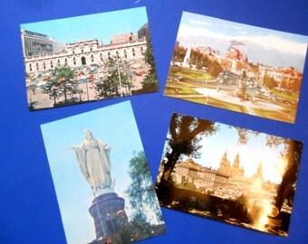 Chile Postcards, Vintage, Santiago, Iberia Airlines Postcard
