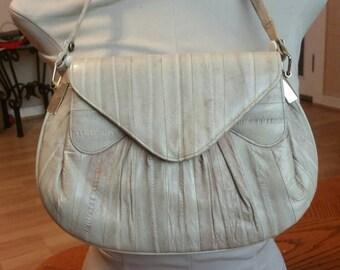 1980's Eel skin handbag
