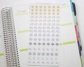 105 Hand Drawn Weather icon Planner Stickers