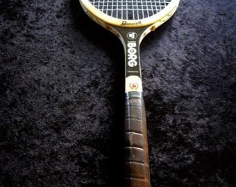 Vintage BJORN BORG Personal  Bancroft Wood Tennis Racquet  Leather Grip