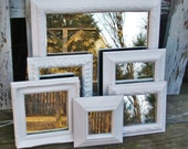 6 Bright White Shabby Chic Ornate Wall Mirrors
