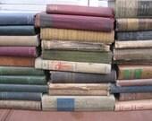 earthtone books book stack fall colors yard long muted shades wedding decor home decor