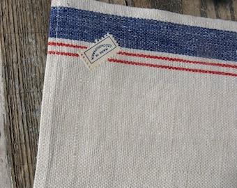 antique linen tea towel  made in czechoslovakia new old stock rustic primitive