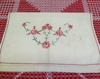 Vintage Embroidered Lingerie Bag