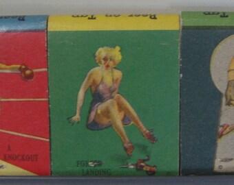 1940s Gil Elvgren Pinup Girlies Lockards Cafe Columbia PA Full Unused Matchbooks