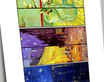 "DIY BOOKMARKS, 12 Different Van Gogh Paintings for Bookmarks, Other Crafts, Approx. 1.5"" X 5.5"" Just Print, Fold, Laminate VGBM"