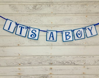 It's A Boy Banner - Baby Shower Decorations