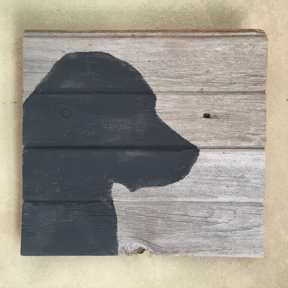 Rustic Barn Wood Wall Decor Lab Silhouette Wall Art