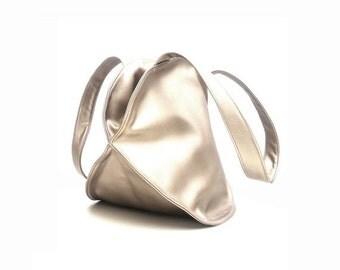 Summer SALE, Gold HandBag, Top Handle Bag for women vegan leather handbag, gold  purse, Convertible Backpack Bag, Carry All Office Bag, Gold