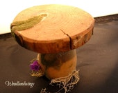 Wooden Mushroom Table for miniature garden's and Realpuki