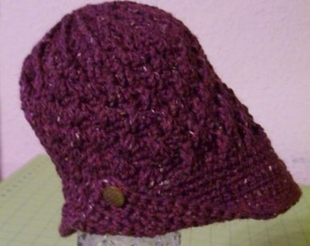 Crocheted cloche