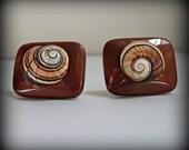 Spiral Shell Cuff Links