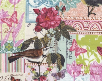 Belle Rose Fabirc in Pink by Michael Miller Fabrics - Half Yard