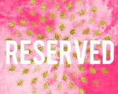 Reserved Lavendar Invitation Order for Karen