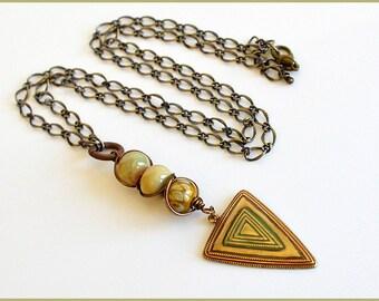 Triangle Pendant Necklace