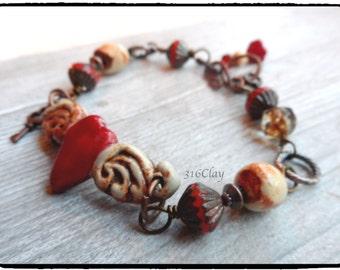 Heart with Wing Bracelet Artisan Bracelet