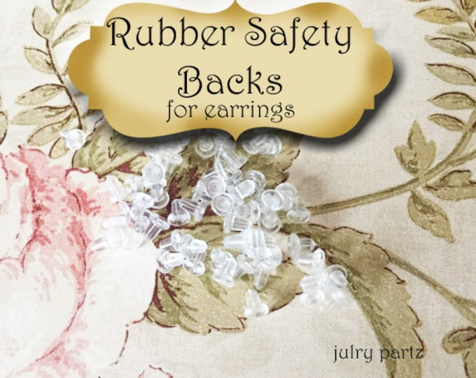 144 Clear Rubber Earring Backs•Card Holders•Earring Safety Backs