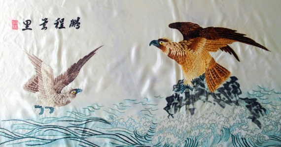 CHINESE EMBROIDERY- A ROC'S flight  of 10,000 miles