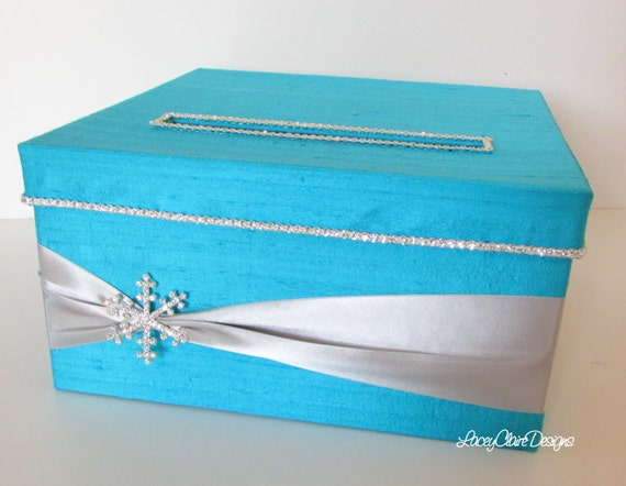 Winter Wedding Gift Card Box : Winter Wedding Card Box , Frozen Birthday Party Box, Quinceanera Card ...