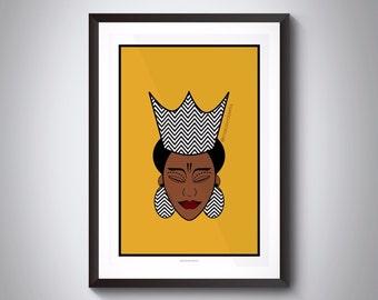 Queen Asanya Artwork | African Queen | Black Queen | Black Art | African Art