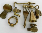 Solid Brass Parts- Robot Parts- Steampunk Parts- Found Objects- Junk Drawer