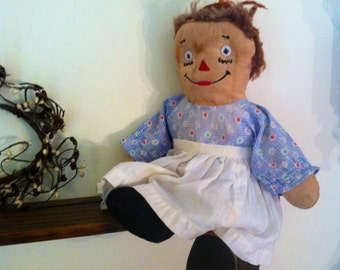 Antique Raggedy Ann Doll primitive