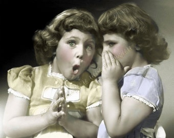 Instant Download Vintage Photograph - The Secret