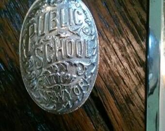 New York public school door knob and plate