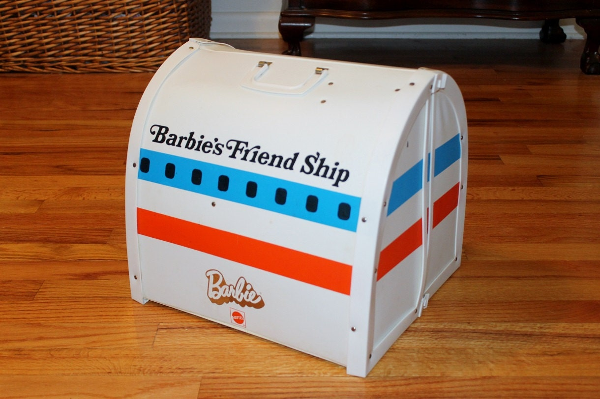 Barbie Friend Ship Mattel Foldout Airplane Interior By