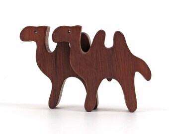 Waldorf Camel Wooden Toys Miniature Wood Noah's Ark Animals Zoo Play Set  Miniature Wood Camel Figurine