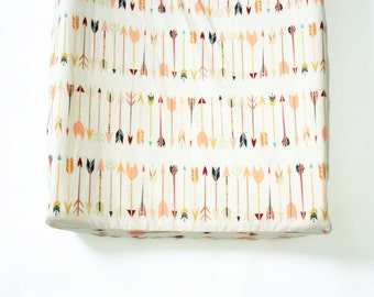Arrow Changing Pad Cover, tribal changing pad cover, contoured changing pad covering, Falling Arrow, Tribal Nursery, Gender Netural Baby