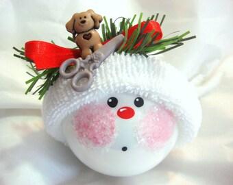 DOG Groomer Ornament Scissors Christmas Townsend Custom Gifts - F