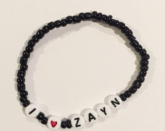Choose Your Color! I HEART ZAYN Beaded Bracelet