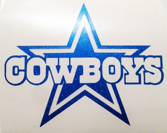 Dallas Cowboys Vinyl Sticker Decal - For Yeti, Ozark, Glass, Phone, Windows, Laptops Gloss or Glitter
