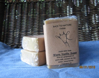Handmade Warm Vanilla Sugar Goats Milk Soap