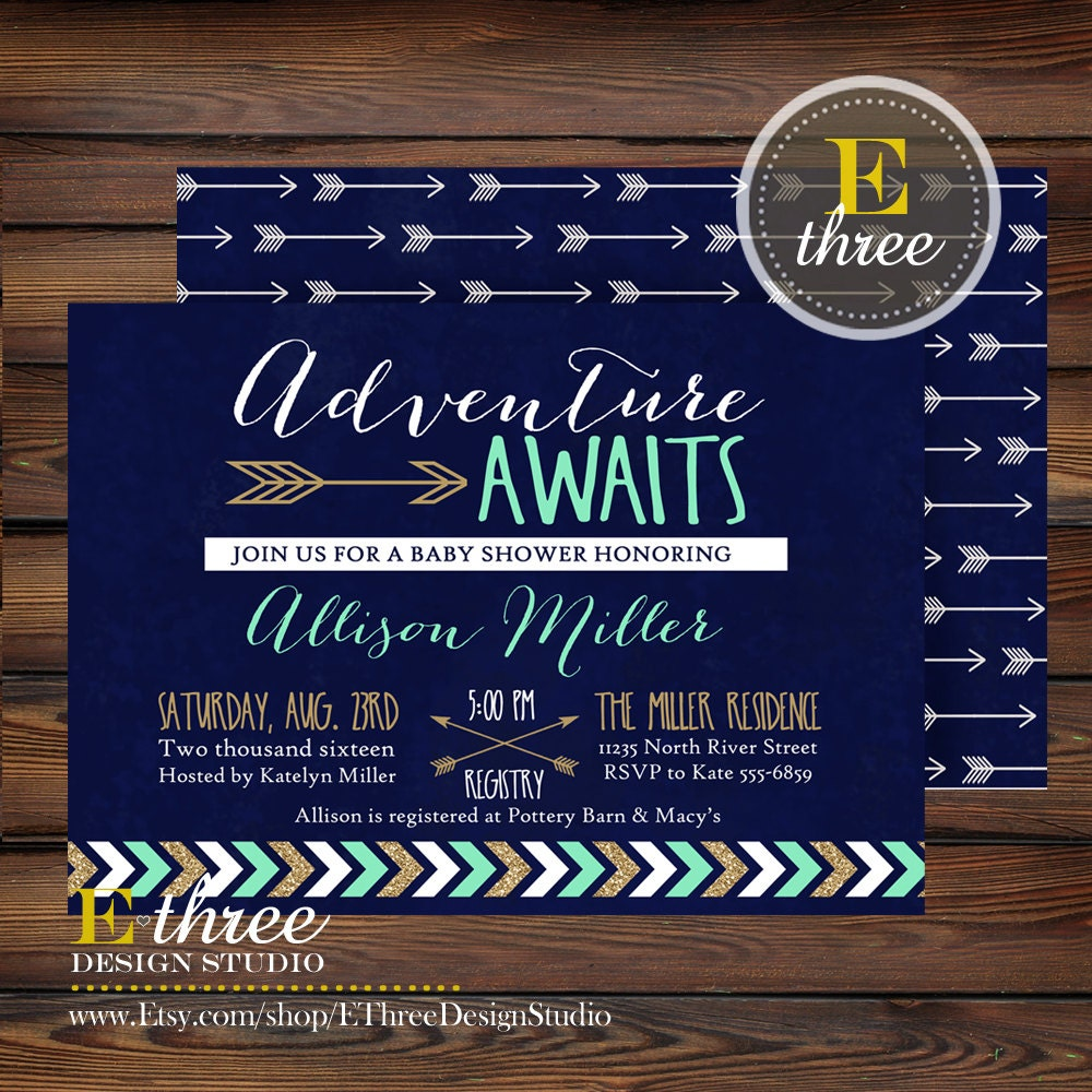 Etsy Baby Shower Invite as beautiful invitation template