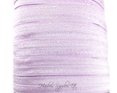 Light Purple Fold Over Elastic - Choose 1, 5 or 10 Yards 5/8 inch FOE - Shiny for Headbands Hair Ties Hairbow Supplies, Etc.
