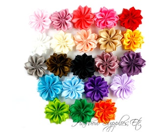 Dainty Star Flowers 1-1/2 inch - Fabric Flowers, Silk Flowers, Hair Flowers, Wedding Flowers, Flowers for Hair, Flowers for Headbands