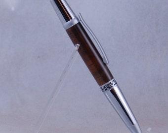 Medium size wooden click pen with black walnut barrel