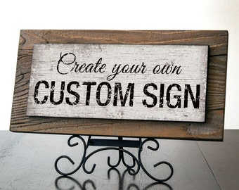 Custom Signs with Reclaimed Wood. Rustic Signs. Business Signs. Wedding Decor. Restaurant Sign. Rustic Farmhouse Decor. Holiday Gift. 14x7