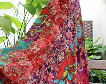 Soft Cotton Patchwork Skirt - OM1610-08