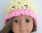 Crochet PATTERN for American Girl doll hat