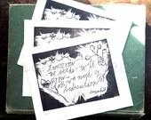 Tomorrow Our Seeds Will Grow - Original Art - Hand Pressed Linoleum Print