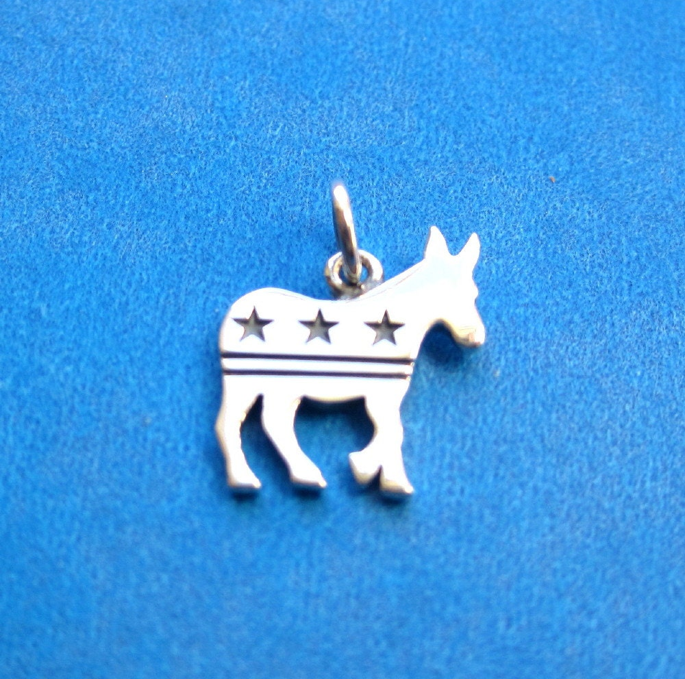 Democratic party symbol sterling silver donkey pendant or charm from democratic party symbol sterling silver donkey pendant or charm biocorpaavc Image collections