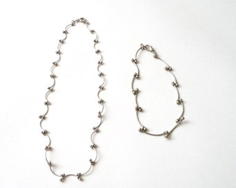 Handmade Sterling Silver Necklace and Bracelet Set