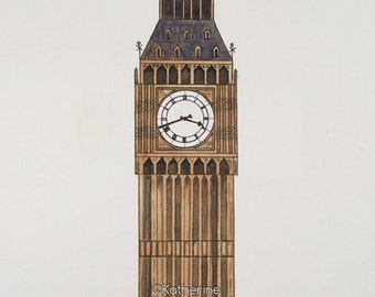 Watercolor Big Ben