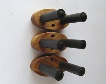 Canarywood ukulele wall mount hangers, natural finish, three pack