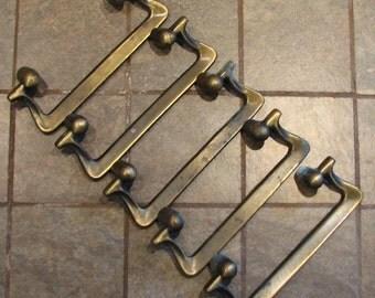 Vintage Brass Drawer Pulls Cabinet Handles No. 2 of 2 Set of 5