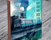 Chicago Architecture Collage - Chicago El Train - Chicago Wall Art - Chicago Print